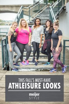 Keep your workout routine on track this fall with these 5 trendy athleisure outfits that fashion bloggers love. #MeijerStyle @nataliexcraig @ninarand @candacemread  @selectpotential @andreakerbuski