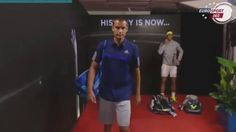 AO first round match in full and two post-match interviews.
