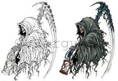 Grim Reaper - Tattoo design by Barguest