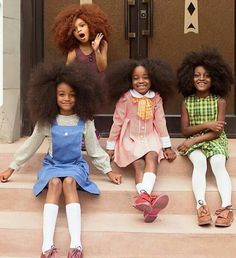 little black girls with afro hair Black Girls Hairstyles, Afro Hairstyles, Children Hairstyles, Black Girls Rock, Black Girl Magic, Curly Hair Styles, Natural Hair Styles, Updo Curly, Pelo Afro