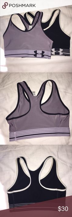 Under Armour sports bras New condition, both of them have only been worn once. Very good high quality sports bras. Black one doesn't have the tags but it's an XS. Under Armour Intimates & Sleepwear Bras
