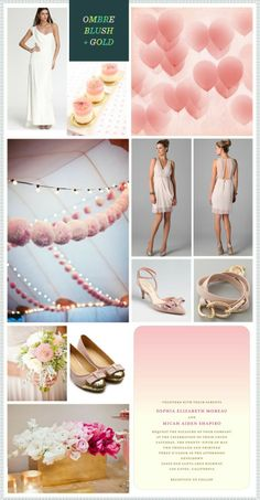 Ombre Blush   Gold Wedding Inspiration