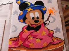 Baby Mickey illusionist hama perler beads by swarovski
