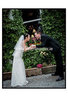 Bride and Groom hanging low......