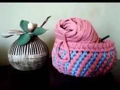 Corbeille crochet - YouTube Baby Shoes, Kids, Crochet Baskets, Couture, Amigurumi, Trapillo, Tutorials, Patterns, Bags