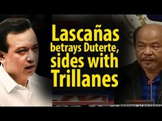 Lascañas betrays Duterte, sides with Trillanes ~Share - WATCH VIDEO HERE -> http://dutertenewstoday.com/lascanas-betrays-duterte-sides-with-trillanes-share/   Lascañas betrays Duterte, sides with Trillanes News video courtesy of The Storyteller YouTube channel  Disclaimer: The views and opinions expressed in this video are those of the YouTube Channel owners and do not necessarily reflect the opinion or position of the site owners/FB admins.
