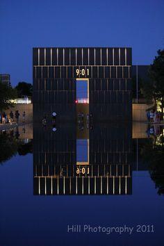 Night at the Oklahoma City Bombing Memorial