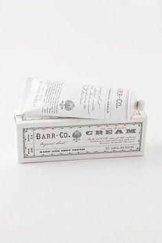 Barr-Co Hand Cream