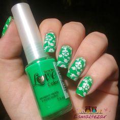 Esmaltezar: Verde Claro - Love Color + Super Placa A - Apipila...