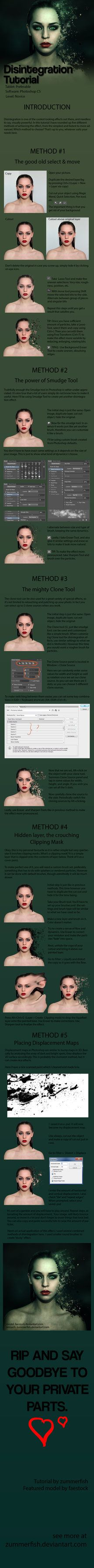 Disintegration Effect Tutorial by zummerfish.deviantart.com on @DeviantArt