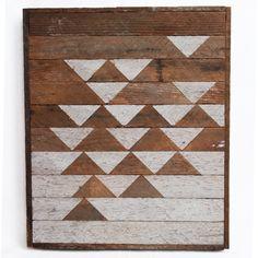 Industreel en bohemian fuseren in deze prachtige vorm van houten kunst. Handgemaakt in Utrecht door Sam Raske.  Maat: 41 x 34.5 x 4 cm  Op zoek naar andere patronen, kleuren of formaten?