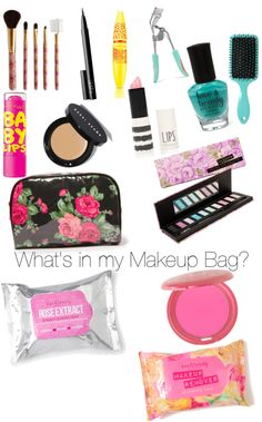 """What's in my Makeup Bag?"" by mariellelovesyuu on Polyvore"