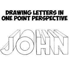 Have you ever wondered how to draw 3-dimensional letters that look like solid structures? Well then your answer is to use the laws of perspective. We will show you, in an easy way, how to draw 3d letters with one point perspective. Find out how to draw these neat letters now.