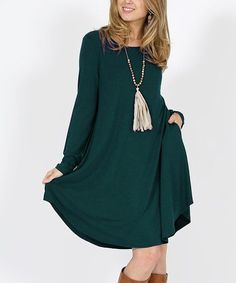Shift dress with pockets in many colors!  #dress #ad #fashion #trends