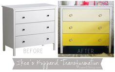 Ikea Ombre Dresser Transformation via Cape27