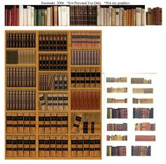 Dollhouse Miniature Printables Books | Books 2 - Website devoted to 1/12th scale miniature dollhouse ...