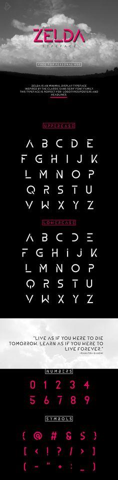 ZELDA - Free Font on Behance