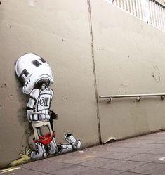 21 Pieces of Cool Graffiti That Reinvented Urban Environments – Crazy City Art… 3d Street Art, Street Art Banksy, Murals Street Art, Urban Street Art, Best Street Art, Amazing Street Art, Street Artists, Amazing Art, Graffiti Artwork