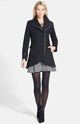Trina Turk Asymmetric Zip Coat & Theory Houndstooth Dress