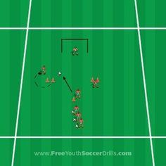 This football drill for U10 - U12 will teach you how to pass, shoot and more!