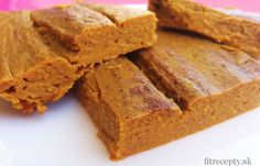 tekvicový fit koláč Sweet Cooking, Cooking Recipes, Healthy Recipes, Healthy Food, Sweet Breakfast, Gluten Free Baking, Pumpkin Recipes, Pumpkin Cakes, Blondies