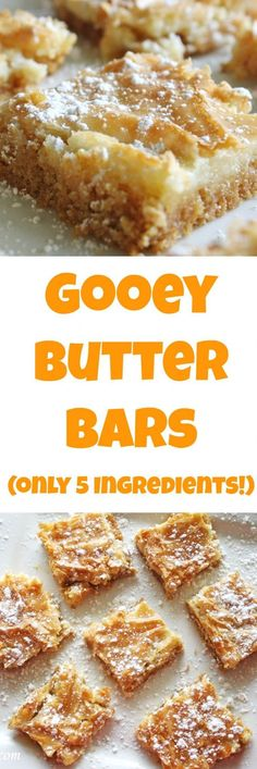 Gooey Butter Bars by Rose Bakes