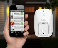 The Belkin WeMo Home Automation Switch for Apple iPhone, iPad, and iPod touch, turns electronics on or off from anywhere!