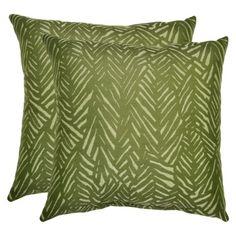 Threshold™ 2-Piece Outdoor Decorative Throw Pillow Set -  Green Leaf 29.98