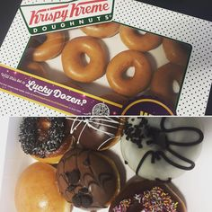 We may have a donut obsession... Is anyone else eating Krispy Kremes at 08:40?  #Donuts #KrispyKremeDoughnuts #KrispyKremes #Eat #Breakfast #HealthyBreakfast #Yum #Yummy #Food #Brighton @krispykreme