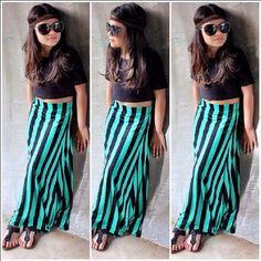 kids fashion #girl #maxi skirt