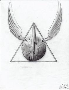 Harry Potter Deathly Hallows by ashleymd7.deviantart.com on @deviantART