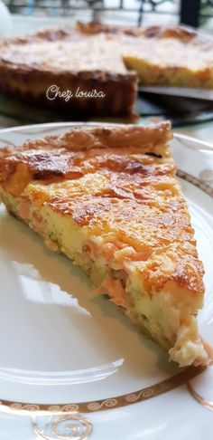 Here is a beautiful quiche without way that will delight the whole family, made with a puff pastry, good smoked salmon and leeks, to taste warm or cold. We need: 300 g puff pastry 2 eggs … Leek Quiche, Pizza Cake, Breakfast Pizza, Breakfast Sandwiches, Paleo, Smoked Salmon, Tostadas, Vegetable Recipes, Seafood
