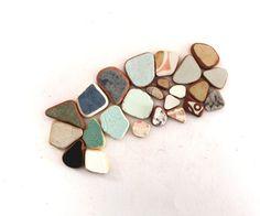 Italian beach pottery shards jewelry supplies vintage by SeaZephyr, $10.00
