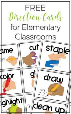 4 Classroom Time Savers {with FREE Direction Cards} Are you tired of repeating yourself over and over? Grab these FREE direction cards, display them on your board as visual reminders, and you are set! Classroom Routines, Classroom Procedures, Classroom Behavior, First Grade Classroom, Preschool Classroom, Classroom Ideas, Classroom Whiteboard, Classroom Labels, Student Behavior