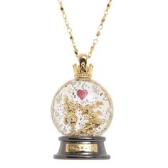 Mickey & Minnie Mouse snow globe necklace <3