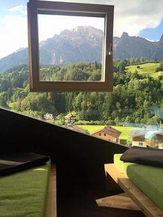 """Hotel Der Löwe Leogang. Das typische """"Fenster im Fenster"""" der W2 Manufaktur"""