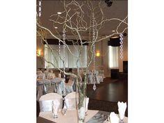 Decoración de la boda color plateado