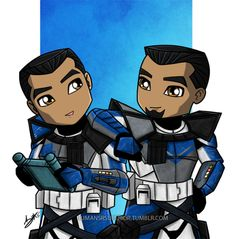 Little ARC Troopers   Echo & Fives   Star Wars: The Clone Wars. a place of infinite possibility