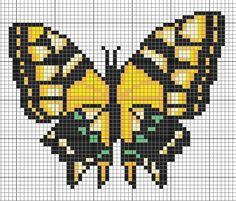 Free Yellow Butterfly Cross Stitch Pattern