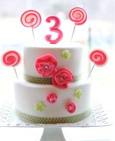 adorable lollipop birthday cake.