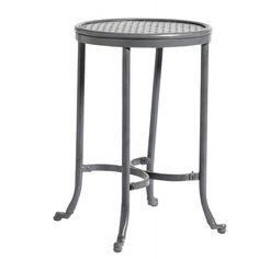 Bright Industrial Stool / Side Table in Metal Grey