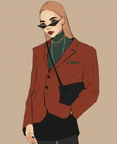 Drawing Of Girls Hipster Fashion Illustrations Cartoon Kunst, Cartoon Art, Art Mignon, Drawn Art, Art Sketchbook, Aesthetic Art, Cute Drawings, Art Day, Cute Art