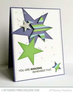 Amazing, Distressed Patterns, Hand Lettered Holiday, Stitched Star STAX Die-namics - Jill Dewey Hawkins  #mftstamps