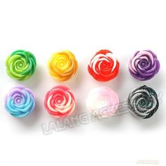 120pcs/lot New Arrival Assorted Colors Craft Flowers Resin Flat Back Jewelry