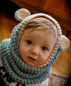 BABY/CHILD: Suburbia Soup: Hoodie Scarf Tutorial