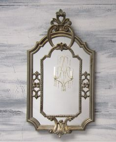 """DECORATIVE VINTAGE MIRRORS For Sale Silver Bronze Mirror French Provincial 23""""x12"""" French Country Home Decorative Wall Mirror. $94.00, via Etsy."""