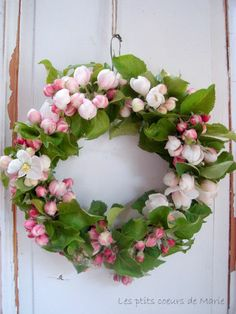 couronneVIII Apple Blossom wreath