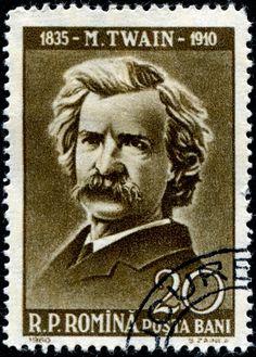 Rumanía 1960 - Samuel Langhorne Clemens, conocido por el seudónimo de Mark Twain, fue un popular escritor, orador y humorista estadounidense.