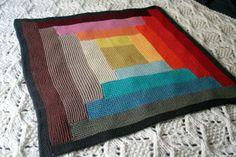 Caro_LogCabin_2copie Crochet Granny, Knitting Projects, Ravelry, My Design, Blanket, Baby, Decor, Faces, Ganchillo