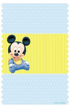 Free printable disney baby shower invitations drevio invitations mickey baby kit festa infantil grtis para imprimir inspire sua festa filmwisefo